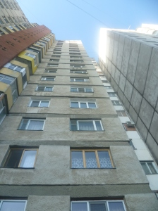 Typical appartment building in Chisinau